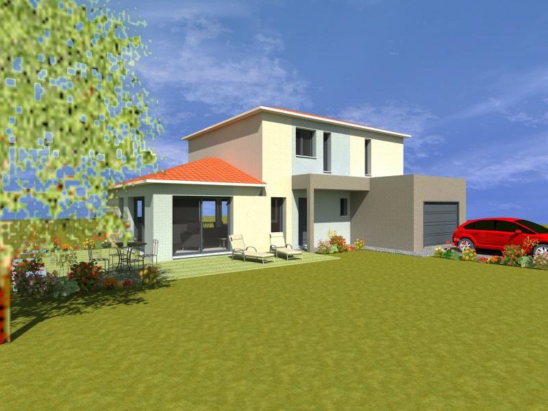 Projet maison tage 4 chambres for Projet 3d maison