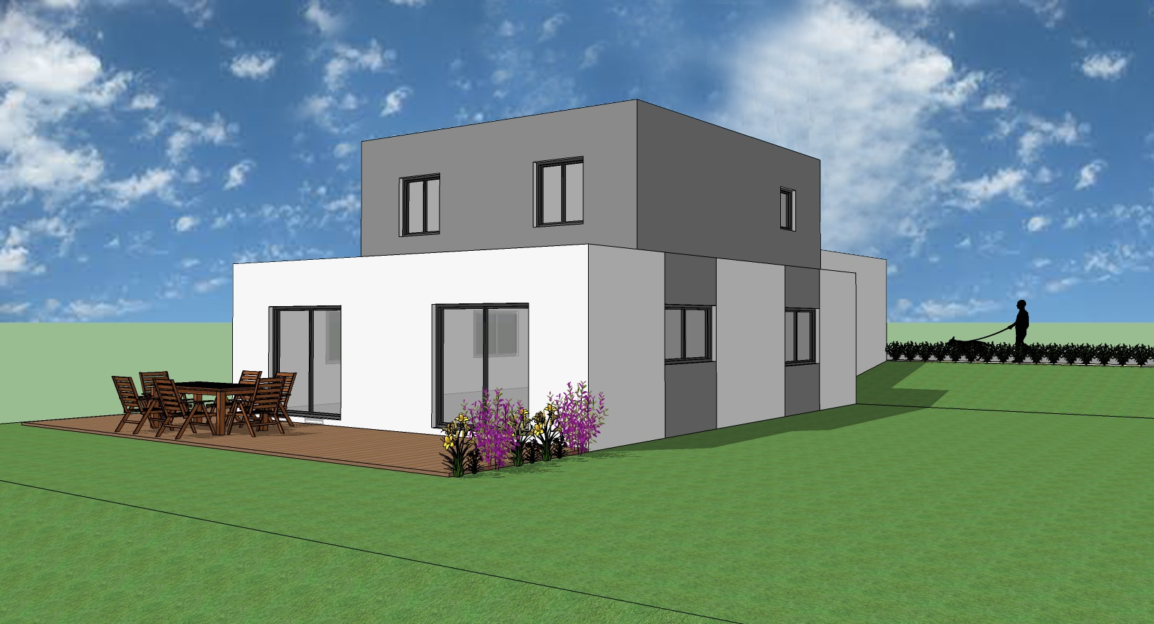 Projet de construction d 39 une maison moderne for Construction maison moderne