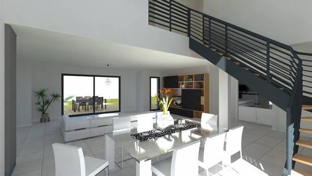 Projet de réalisation de maison moderne à étage F6