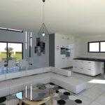 Projet maison moderne à étage