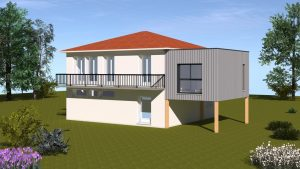 Extension ossature bois maison Lempdes