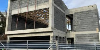 Avancement construction nouveaux bureaux Créaxia Clermont-Ferrand