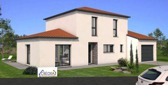 Projet en 3D maison individuelle métropole Clermont-Ferrand